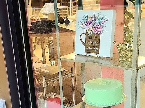 exterior cake shop window